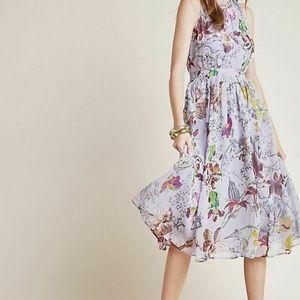 Anthropologie – Hermia Midi Floral Summer Dress, P
